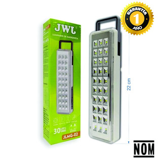 Lampara Emergencia Led 3w, 30 Leds, Recargable 22 Cm Jwj (jlmg-02)