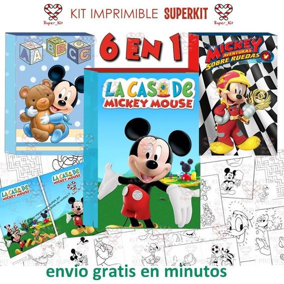 Tarjetas De Invitacion Mickey Mouse Con Sobres Souvenirs