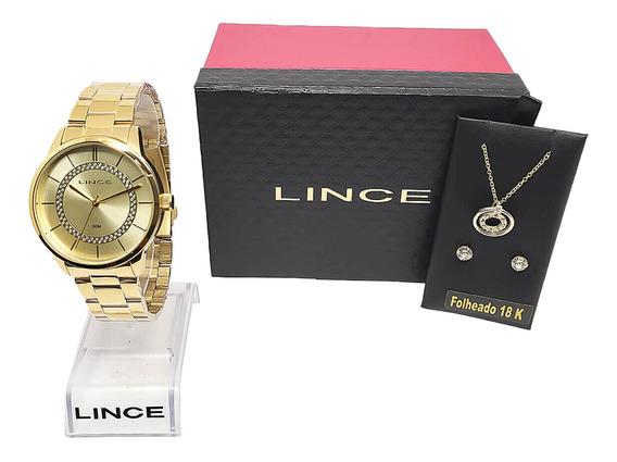 Relógio Feminino Dourado Com Nota Fiscal