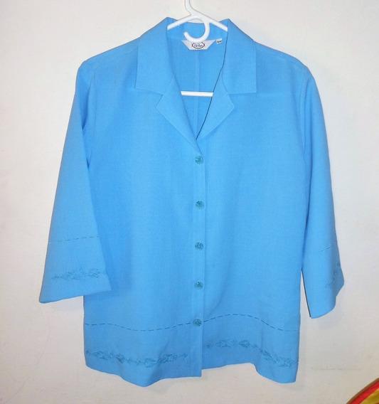 Conjunto Azul Pantalon Y Chaqueta Talla 44 De Dama 3v