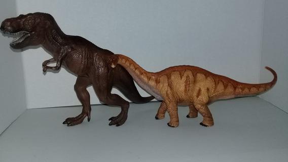 Dinosaurio T -rex Y Apatosaurio Schleich