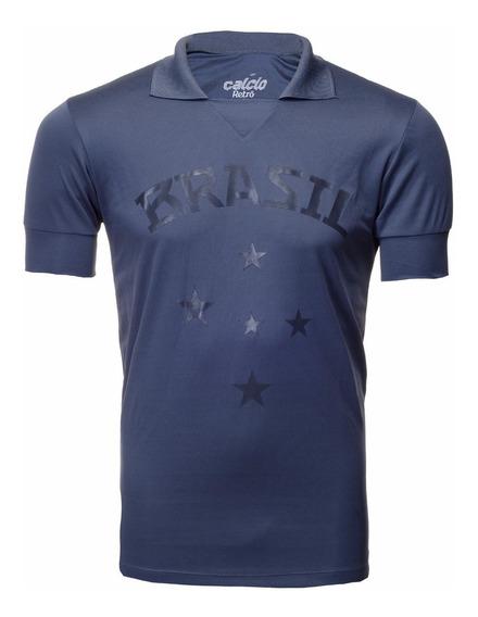 Camisa Retrô Torcedor Brasil Cinza