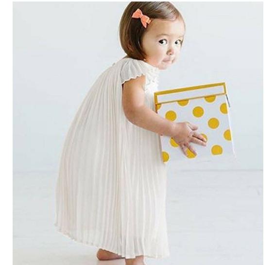 Vestido Infantil De Batismo, Pronta Entrega, Princesa;chifon