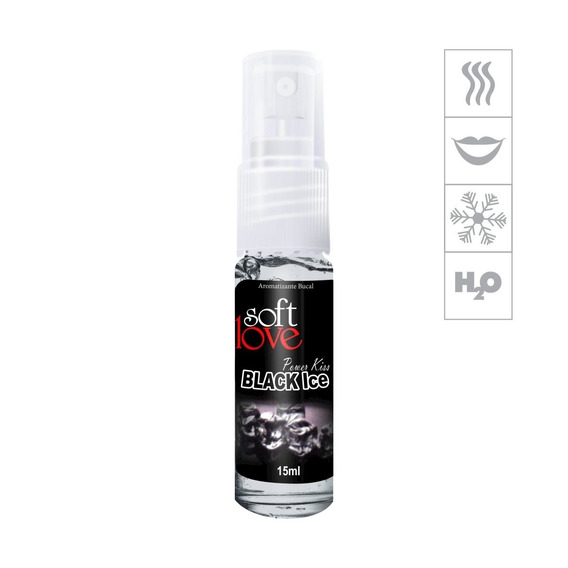 Aromatizante Bucal Power Kiss 15ml - Black Ice
