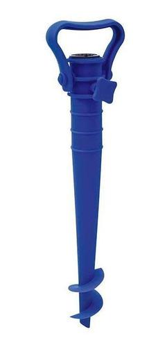 Saca-areia Com Suporte Para Guarda Sol Azul Mor
