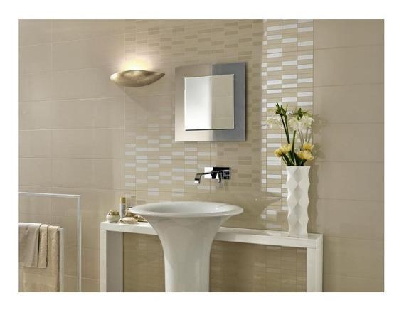 Espejo Reflejar 70x70 Biselado Base Gris Baño Sin Interes