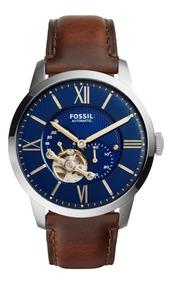 Reloj Caballero Fossil Me3110 Color Café Oscuro De Piel