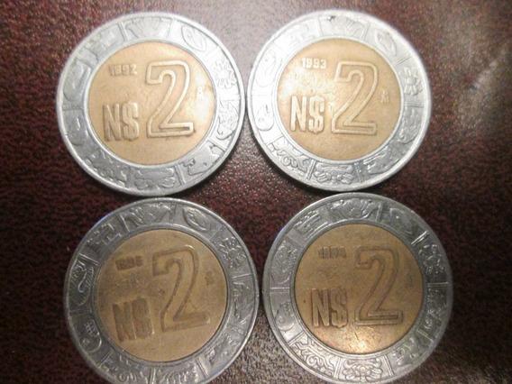 Set De Monedas De 2 Nuevos Pesos 1992 A 1995