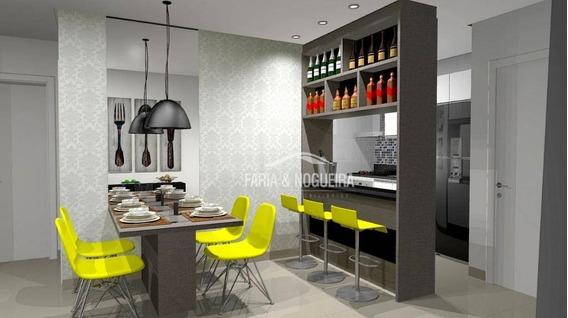 Apartamento Novo Com 2 Dormitórios Sendo 1 Suíte Para Alugar, 70 M² Por R$ 1.700/mês - Residencial Bellas Artes, Jardim Claret - Rio Claro/sp - Ap0369