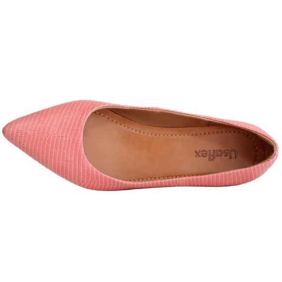 Sapato Usaflex Bico Fino Couro Legitimo 6601