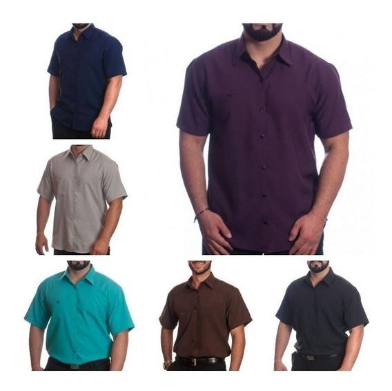 Lote Com 5 Camisas Sociais Masculinas Atacado Revenda