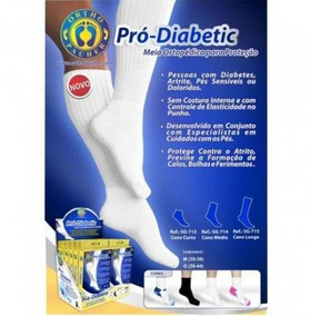 53706828f Meia Diabetico - Meias com o Melhores Preços no Mercado Livre Brasil