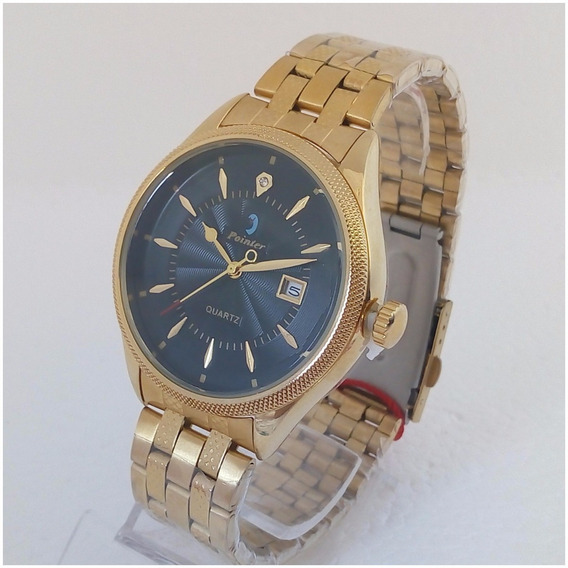 Relógio Feminino Pointer Dourado D059 Original Luxo Vip 12x S/juros