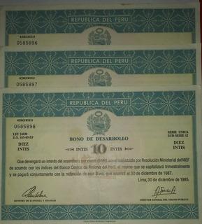 Coin Collection: Bonos De Desarrollo 5-10 Intis
