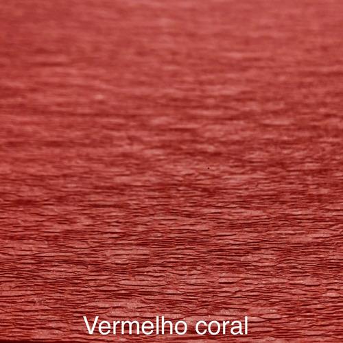 Imagem 1 de 8 de 200 Papel Para Bem Casado Vermelho Coral + 200 Celofane
