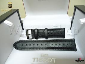 Pulseira De Couro Tissot V8 T106417a 22mm Preto Original