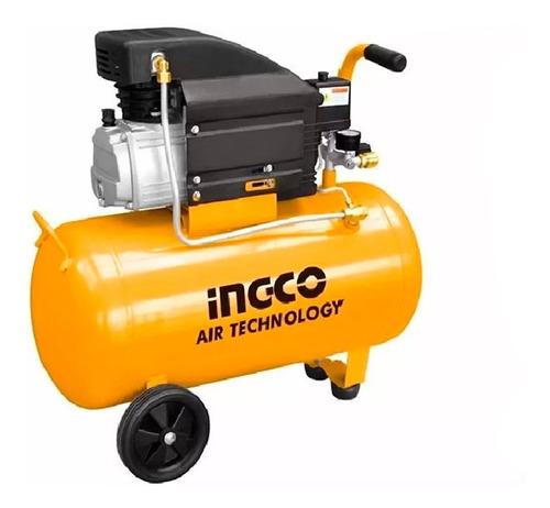 Kit Compresor 50 Lts Ingco+ Kit 5 Pzas Guantes Lentes Acople