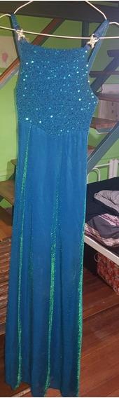Vestido De Fiesta Largo Turquesa