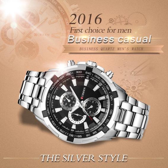 Relógio Masculino Curren Luxo Prova D