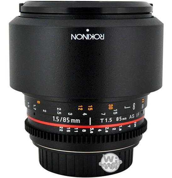 Rokinon 85mm T1.5 Cine (canon Usado)