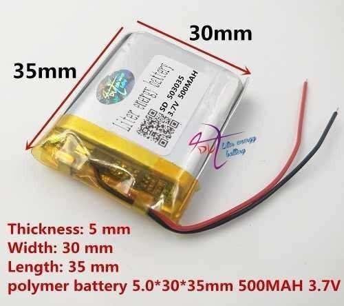 Bateria 500 Mah Camera Rastreador Gps Mp5 2 Fios Original