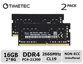 Timetec Hynix 16gb Kit (2x8gb) Ddr4 2666mhz Pc4-21300 Unbuff