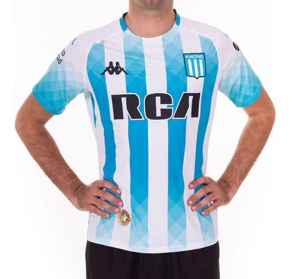 Camiseta Oficial Racing Club 2018 Slim Blanco Hombre Kappa
