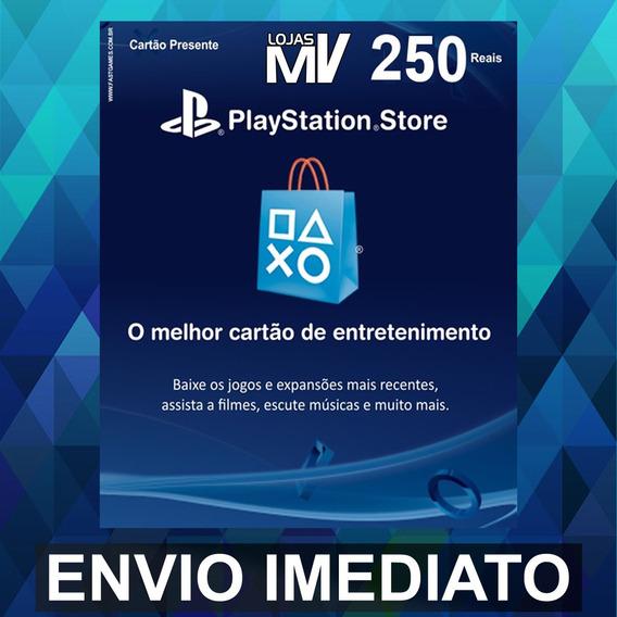 Psn 250 Reais Br Ps4 Ps3 Vita Playstation Cartão Presente