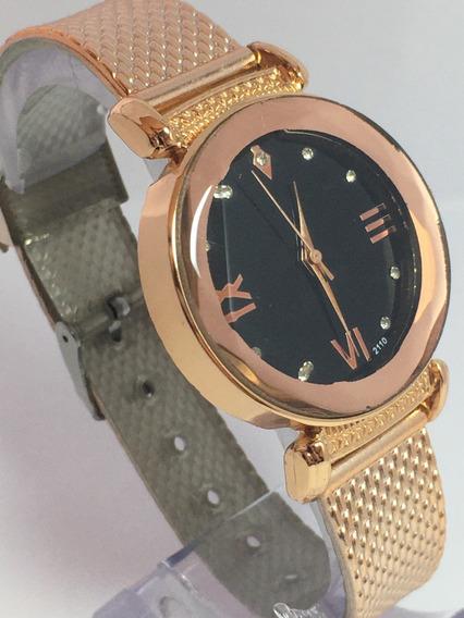Relógio Luxo Algarismos Para Mulheres Mega Barato