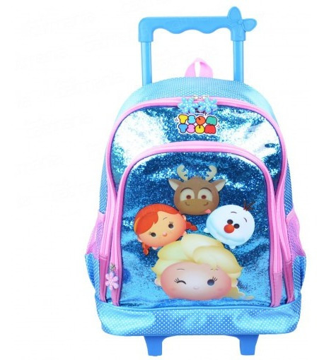 Mochila Infantil Com Rodas Feminina Frozen 12x S/juros