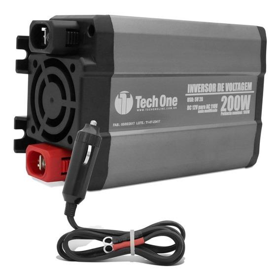 Inversor Transformador 12v P/ 110v 200w Onda Modificada Usb