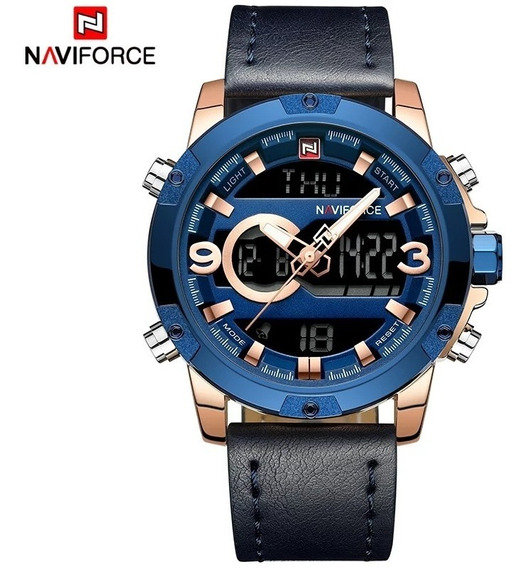 Relógio Masculino Naviforce Pulseira Couro Lançamento