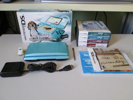 Nintendo Ds Edição Nintendogs + 4 Jogos Da Franquia
