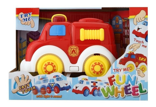 Camion De Bomberos Con Luces Y Sonido Bebes Niños Juguetes