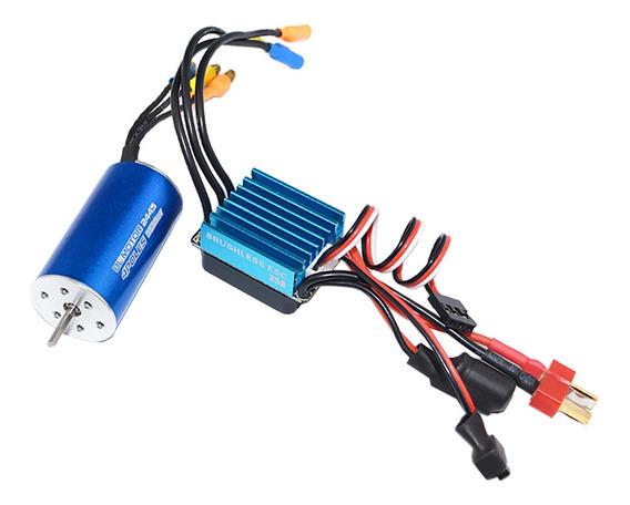 2445 Brushless Motor Y 35a Brushless Esc Para 1/14 1/16 Rc