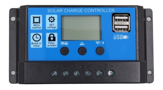 Controlador De Carga Solar 12/24v 30 Amperes Pronta Entrega