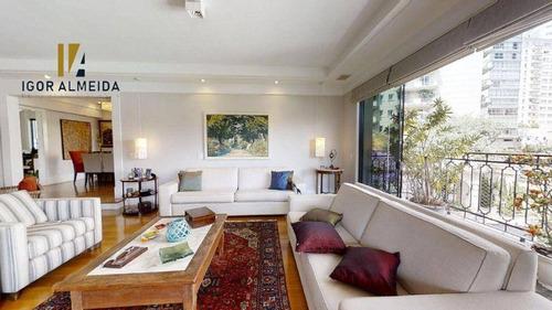 Apartamento Com 4 Dormitórios À Venda, 269 M² Por R$ 3.410.000,00 - Pacaembu - São Paulo/sp - Ap47823