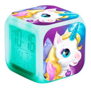 Reloj Cubo Led Alarma Digital Unicornio - Sertel Shop