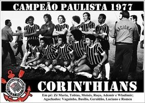 Poster Do Corinthians - Campeão Paulista 1977