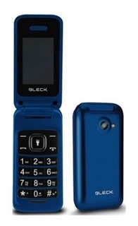 Celular Bleck Flip Phone Azul