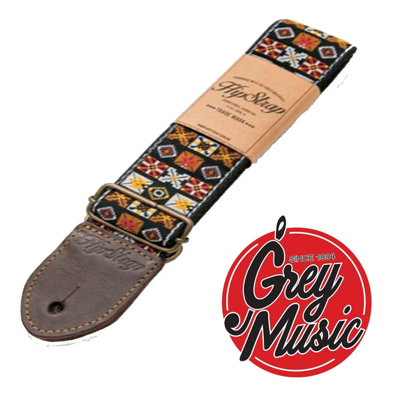 Correa Hipstrap Woodstock Brown Estilo Jimmy Hendrix Marron