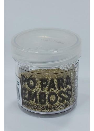 Imagem 1 de 1 de Repeteco - Pó Para Emboss Glitter - Cor Dourado - 14gr