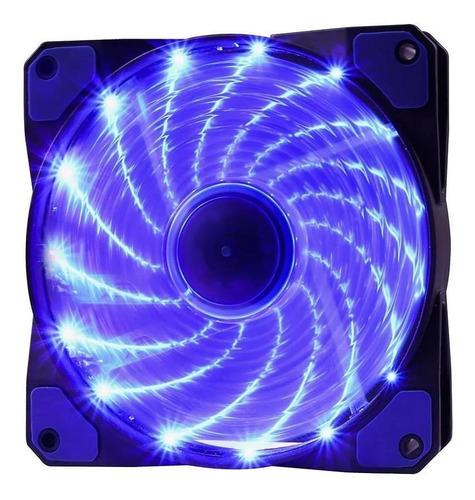 Cooler Rgb 120mm 15 Leds Azul Pc Gamer Fan Gabinete Gaming