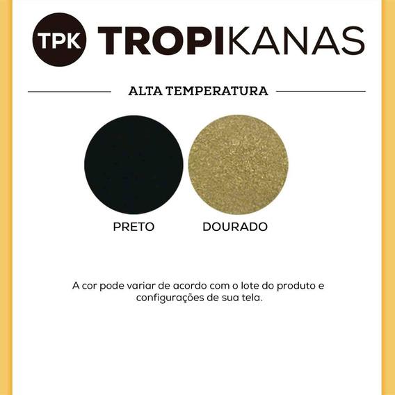 Tinta Alta Temperatura Spray Preto Fosco Escapamento Tpk