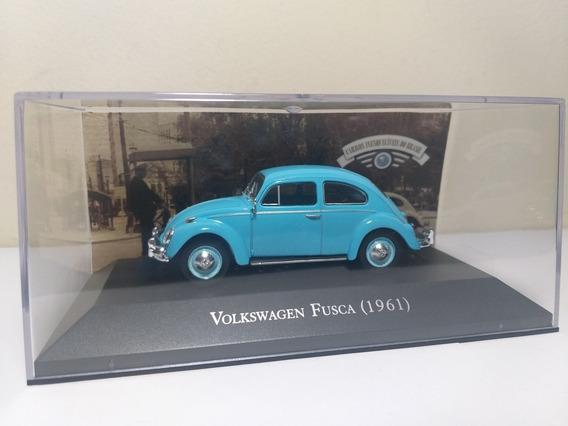 Volkswagen Fusca 1961 Ed 2 Carros Inesquecíveis Brasil 1/43
