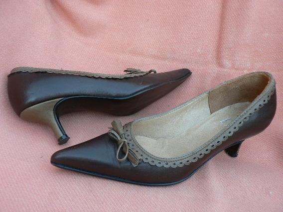 Zapato Clasico Stilletto Cuero Nº 35 36 Febo 1001zapatos