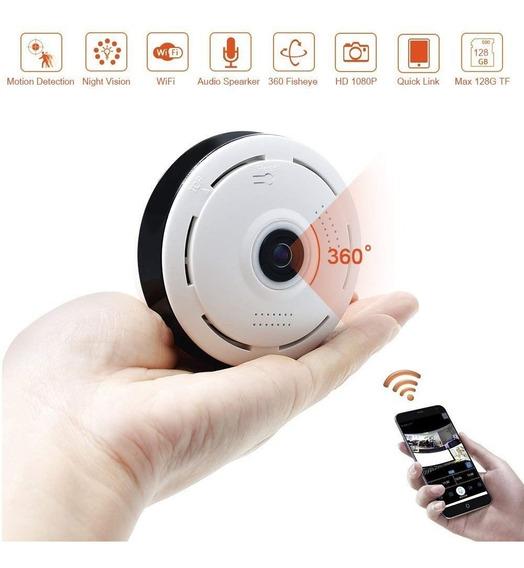 Camara Espia Wifi P2p Ip Techo Ojo Pez 4 Mic Parlante 360°