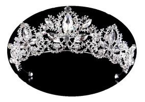 Coroa Tiara Noiva Daminha Debutantes Casamento Prata 012