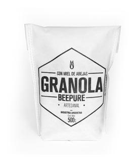 Granola Artesanal Con Miel Beepure Ecobolsa 500g