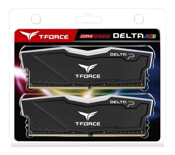 Memória T-force Delta Ddr4 Rgb 16gb(2x8) 2666mhz Preta